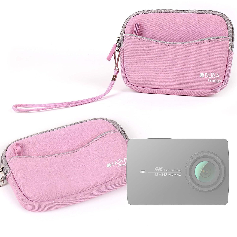 DURAGADGET ピンク ネオプレン コンパクトカメラケース Xiaomi Yi 2 4K (90003) アクションカメラ用   B01IA7SLRS