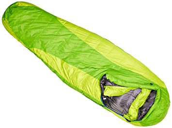 Marmot Women's Angel Fire Long Sleeping Bag - Green Envy/Green Lime, Left  Zip