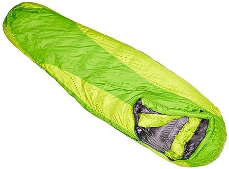 Marmot Angel Fire Long - Saco de dormir momia para acampada (algodón, de 1