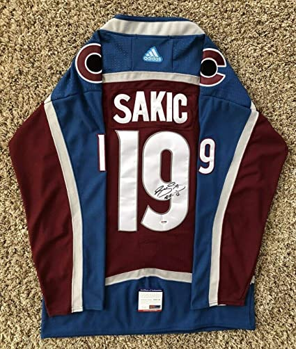 pretty nice 70115 df366 Joe Sakic Autographed Signed Colorado Avalanche Jersey PSA ...