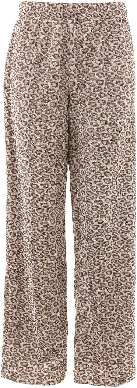 Nicole K Womens Beige Leopard Pajama Pants M