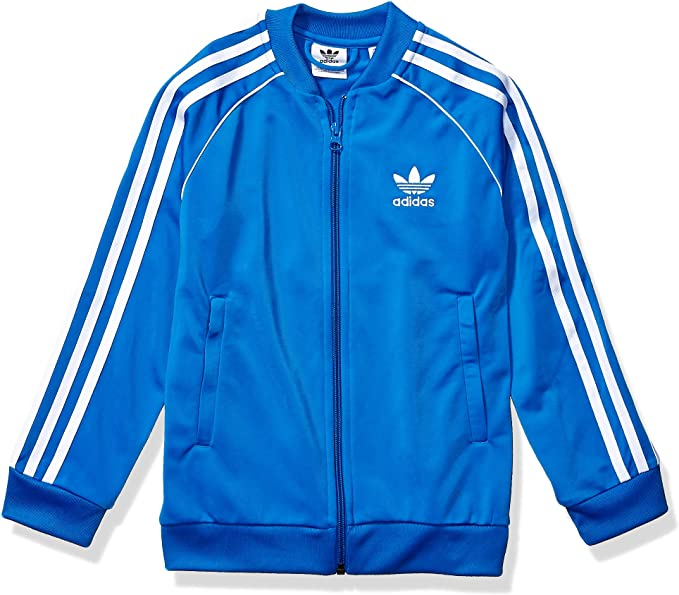 Black adidas Boys Little Athletics Jacket 4