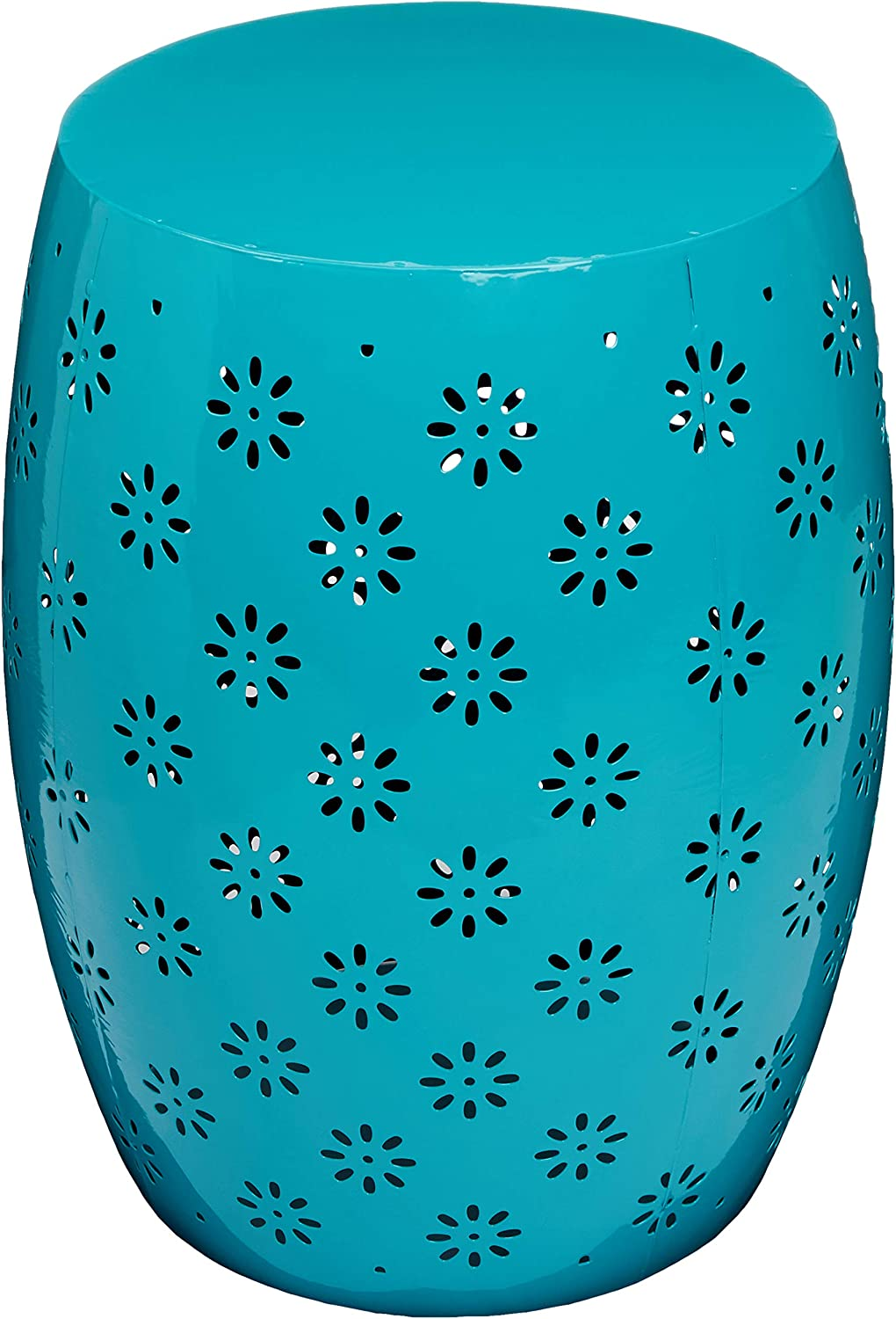 "Christopher Knight Home Soleil Outdoor 15"" Iron Side Table, Teal"