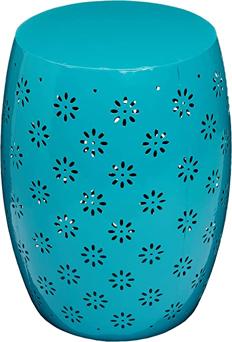 Christopher Knight Home 301560 Breeze Outdoor 15 Blue Iron Side Table