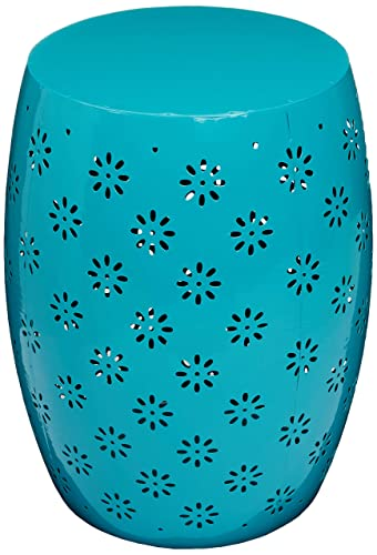 Christopher Knight Home 301561 Breeze Outdoor 15 Teal Iron Side Table