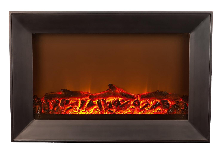 amazon com fire sense black wood wall mounted electric fireplace