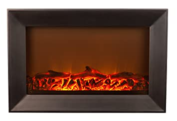 Amazon.com: Fire Sense Black Wood Wall Mounted Electric Fireplace ...