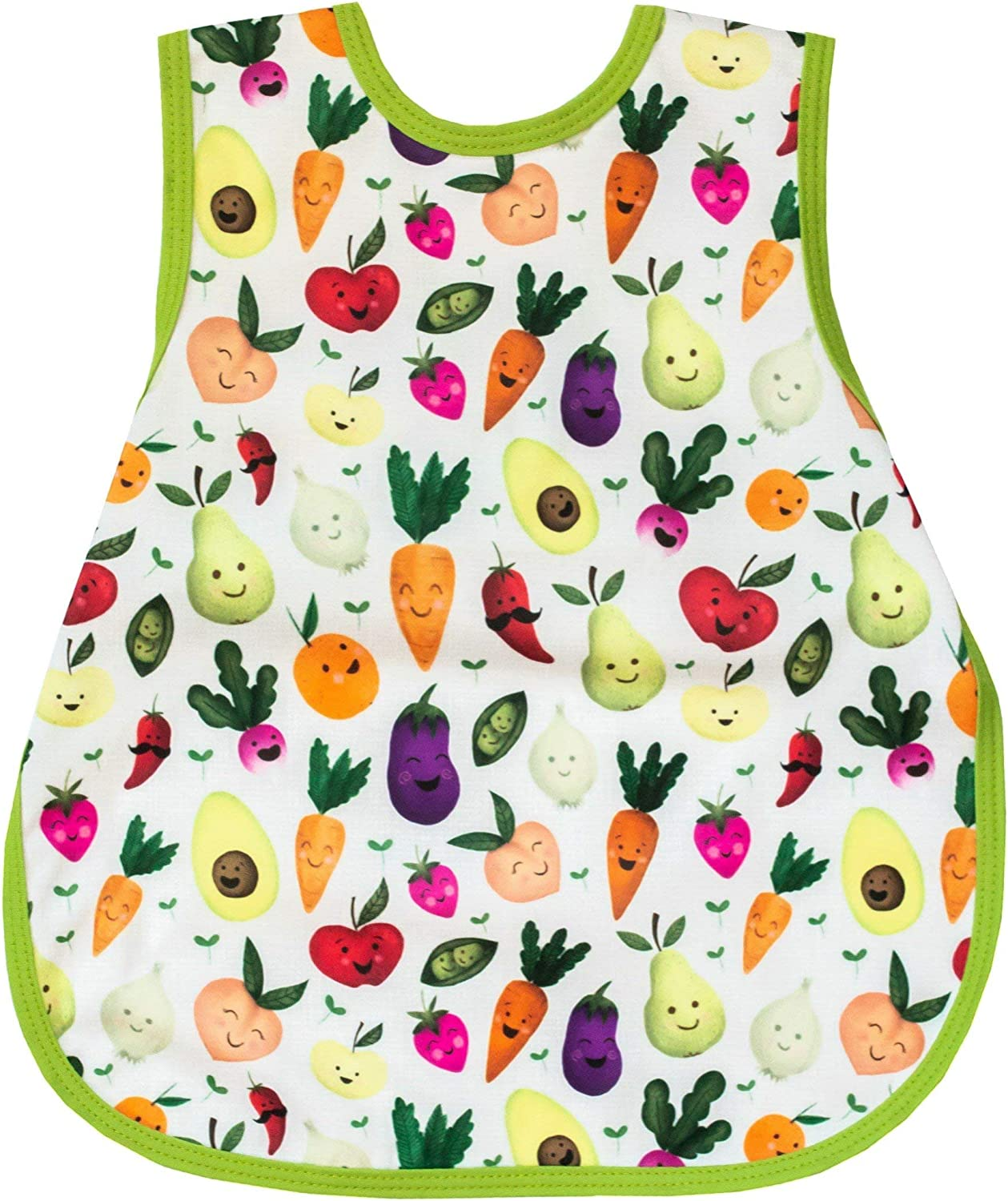 childs apron for meals painting baking craft. baby bib for weaning Fiver Friday Surprise Bapron with pocket option