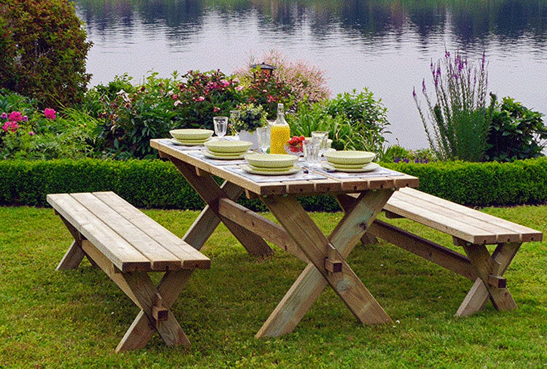 Amazon.de: Alwo Tisch Bank Garnitur Gartengarnitur Gartenmöbel ...
