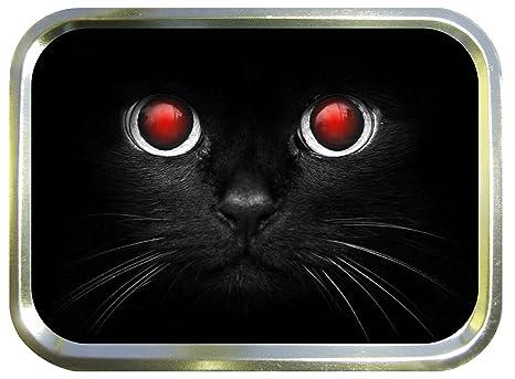 Rojo de gatos para formar los ojos 2 oz caja para tabaco, pastillero, Oh