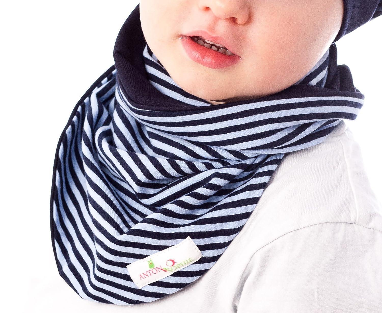 Anton   Sophie Braga de cuello bufanda para niños - azul a rayas - DISEÑO 5c5a689b5ec