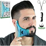 BEARDCLASS Beard Shaping Tool - 8 in 1 Comb Multi-liner Beard Shaper Template Comb Kit Transparent - Bonus Items Included - Works with any Beard Razor Electric Trimmers or Clippers