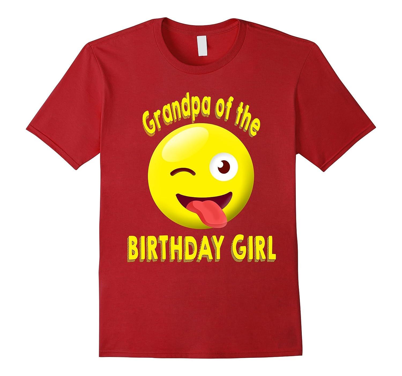 Grandpa Of The Birthday Girl Emoji Shirt ANZ
