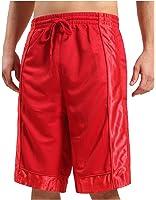 OLLIN1 Mens Active Basketball Short Pants with Elastic Waistband