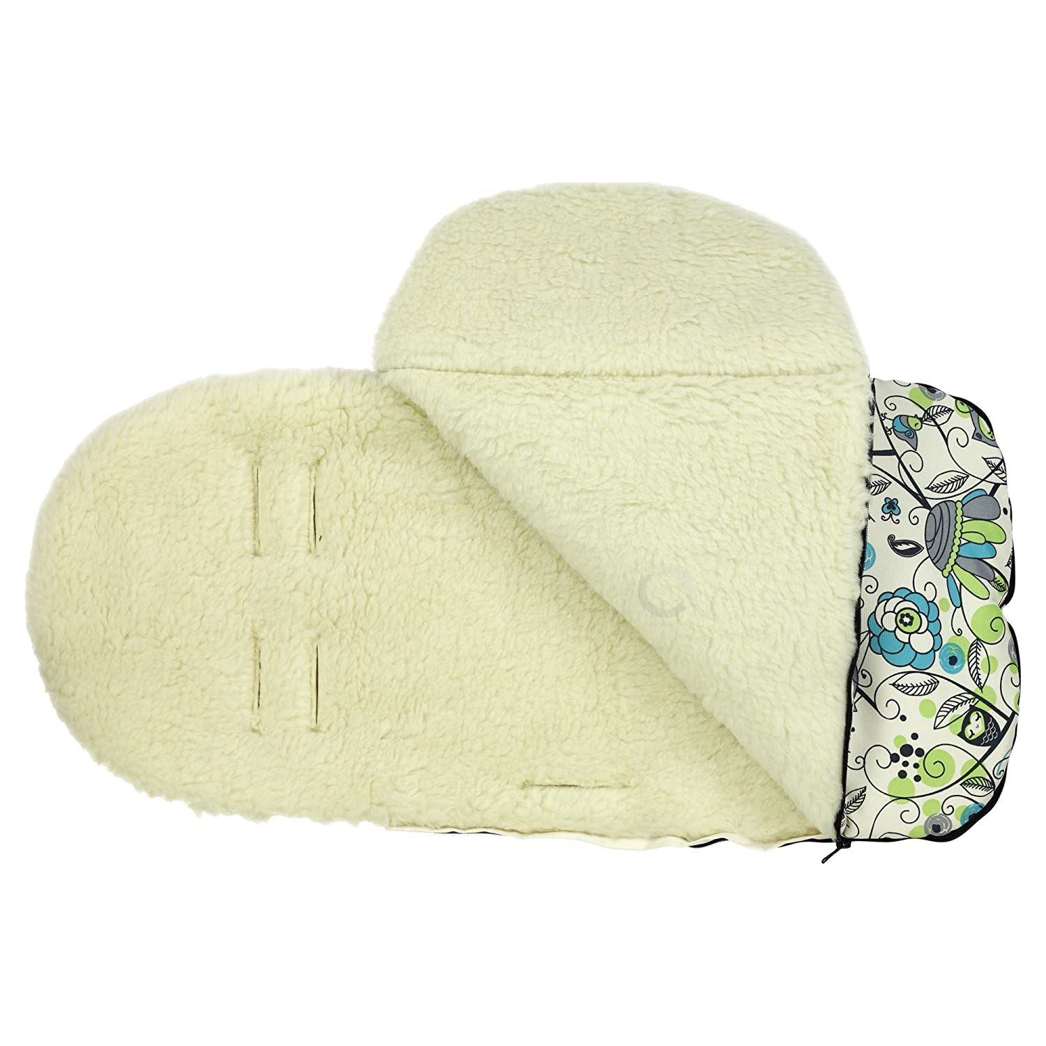 Pattern 269 Universal Baby Stroller cosytoes Liner Buggy Luxury Padded Footmuff Wool