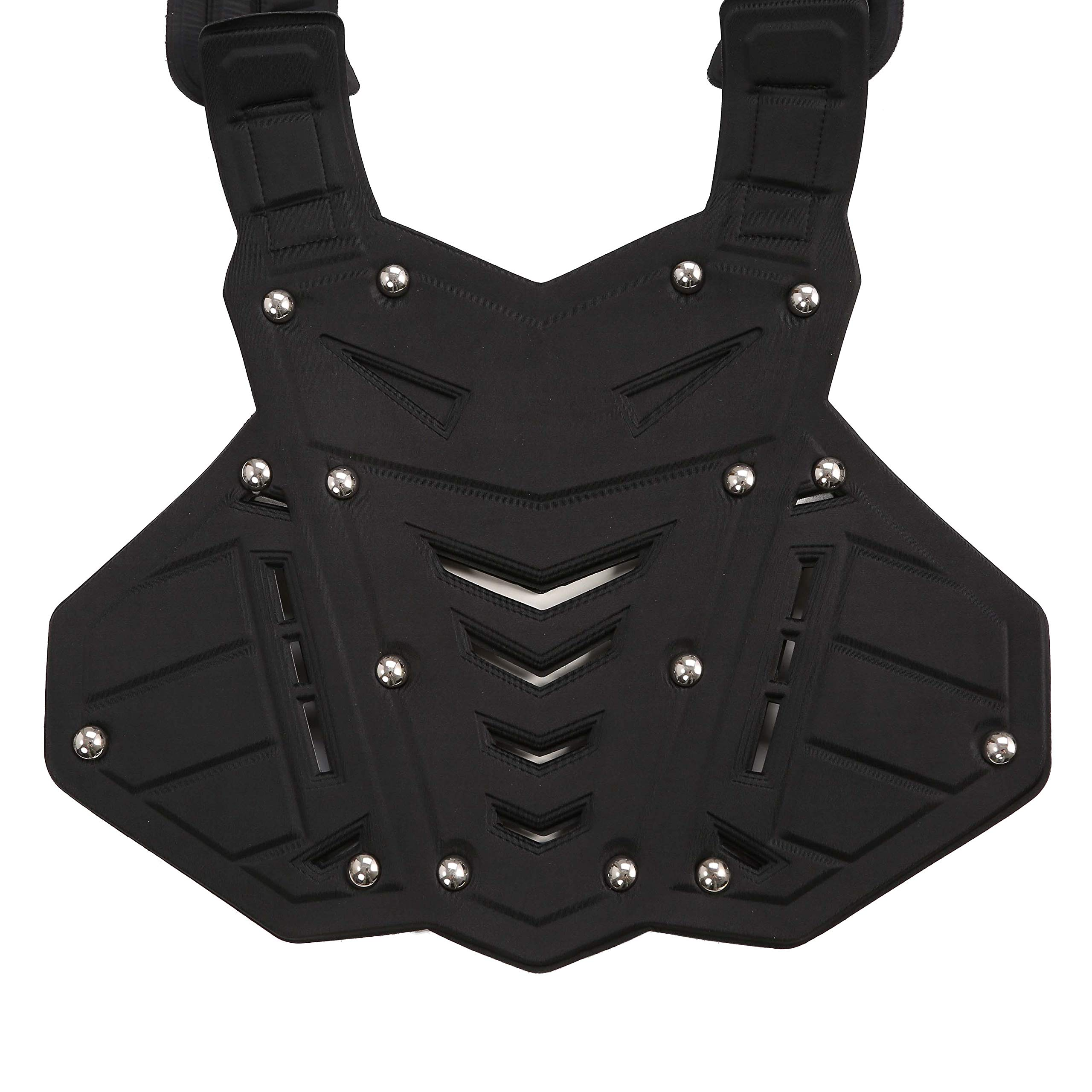 OHMOTOR Chest Back Protector Motorcycle Armor Vest Motorcycle Riding Chest Armor (Black) by OHMOTOR (Image #2)