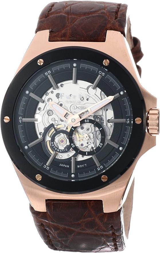 [フルボデザイン] 腕時計 F2501PBKBR メンズ ブラウン