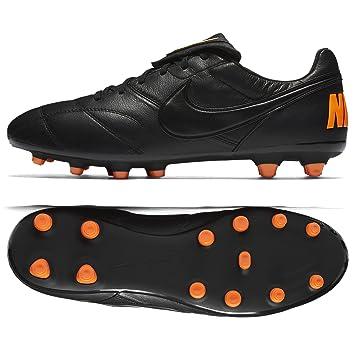 50420f037 NIKE Premier II FG Sole Kangaroo Leather Black/Orange Adult, Black, 8.5