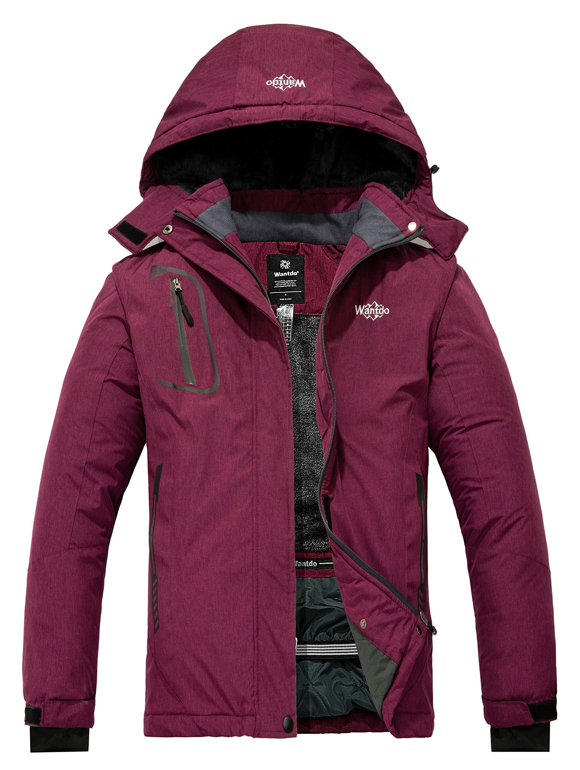 Wantdo Women's Mountain Waterproof Ski Jacket Windproof Rain Jacket Blending Purple Medium by Wantdo