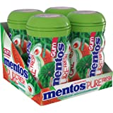 Mentos Pure Fresh Sugar-Free Chewing Gum with Xylitol, Watermelon, 50 Piece Bottle (Bulk Pack of 4)