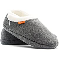 ARCHLINE Closed Grey Marl Comfortable Orthotic Slippers