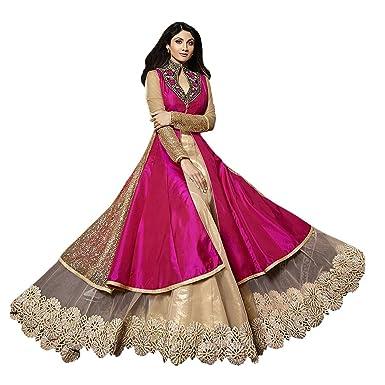 174c82da6 Lady Loop Women's Cotton Dress Material Salwar Suit Set (Karma Pink  01_Multi-Coloured_Free Size