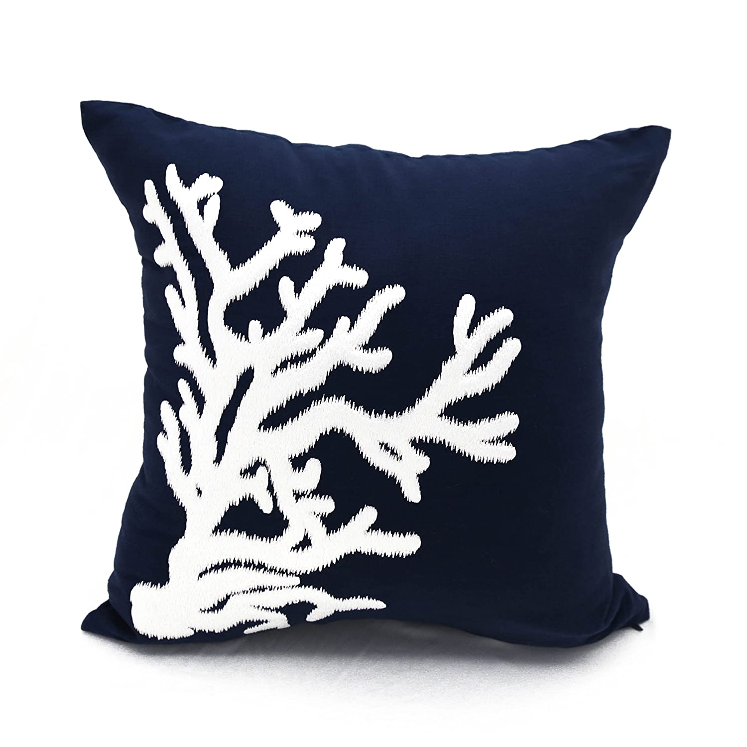 product pillows a pillow scale coral and navy chairish ivory fish pair