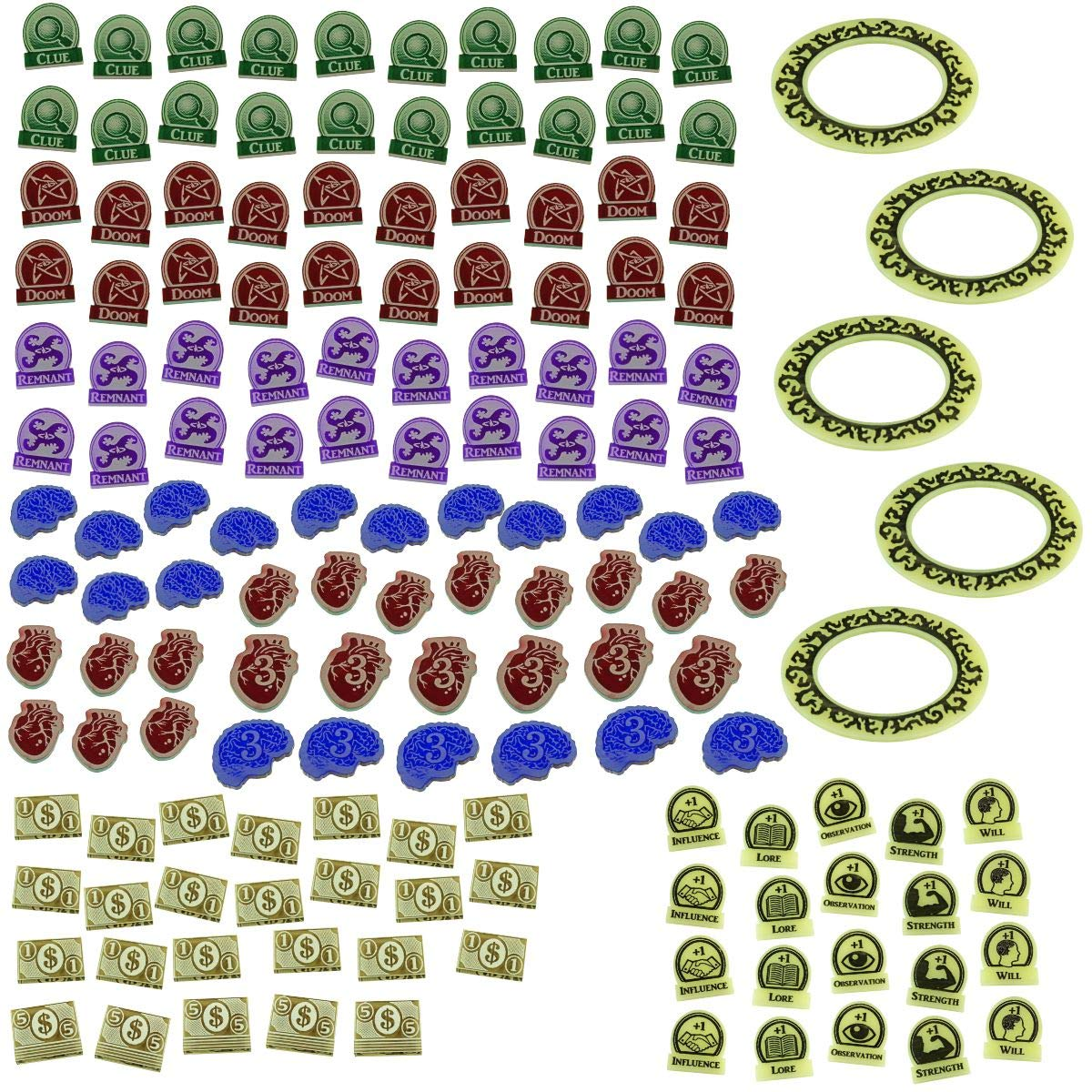 LITKO Game Upgrade Set Compatible with Arkham 3rd Edition, Multi-Colored (150)