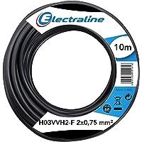 Electraline 10921, Cable para Extensiones H03VVH2-F, Sección 2x0,75