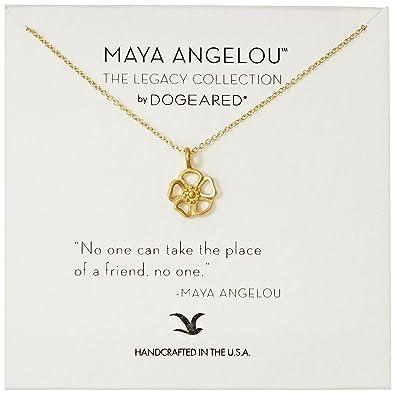 "Dogeared maya angelou ""the light"" メッセージ プレゼントにも"