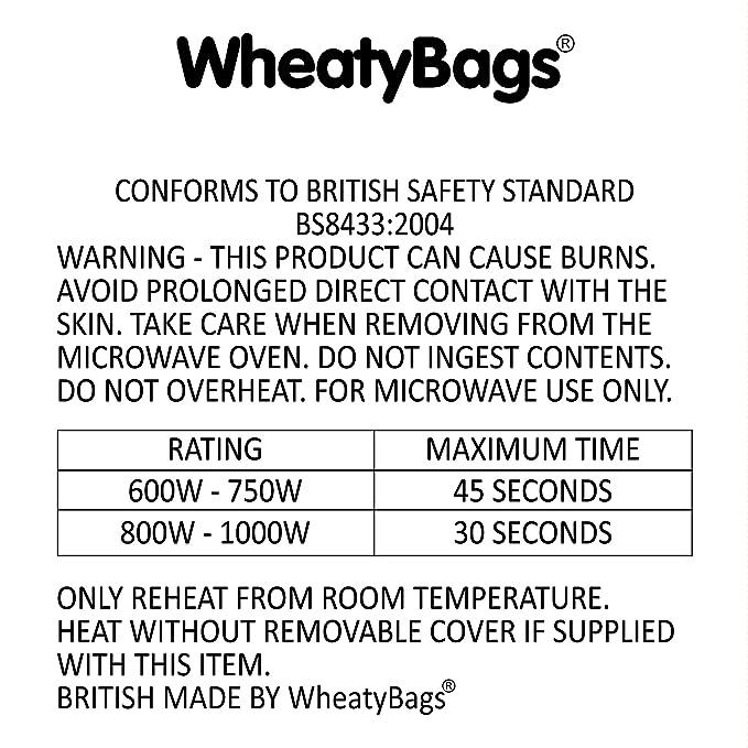 WheatyBags - Almohada térmica reutilizable (se calienta en ...