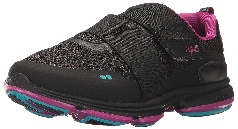 Ryka Women's Devotion Plus Cinch Walking Shoe B01NA00HPM 6.5 W US|Black/Blue