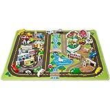 Melissa & Doug 豪华活动地毯玩具套装,含 49 个木制车辆和游戏组件