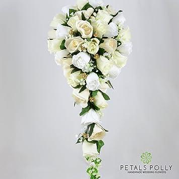 Artificial wedding flowers hand made by petals polly brides bouquet artificial wedding flowers hand made by petals polly brides bouquet creamivory junglespirit Choice Image