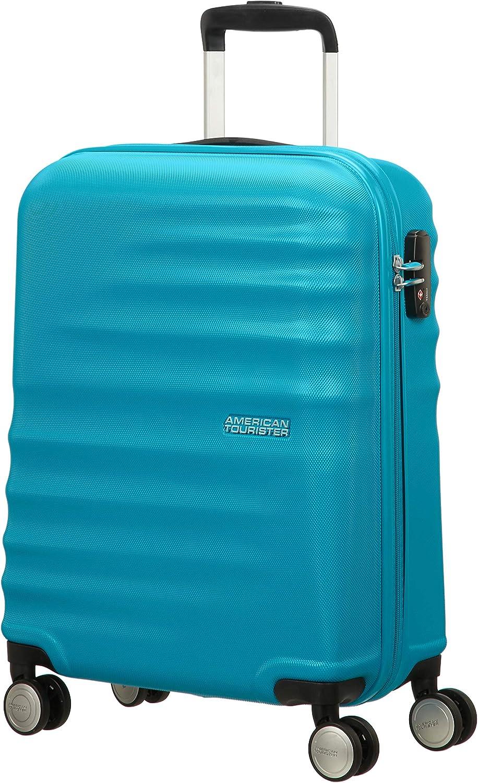 American Tourister WaveBreaker Spinner 55/20 - Equipaje de Mano, 36 Litros, Color Azul (Summer Sky)