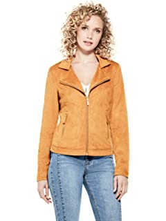 GUESS Factory Womens Tess Faux-Suede Jacket