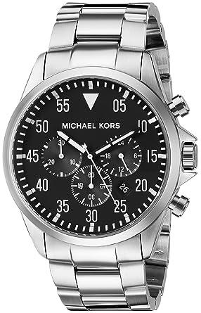 0f0ca892a9a5 Amazon.com  Michael Kors Men s Gage Silver-Tone Watch MK8413 ...