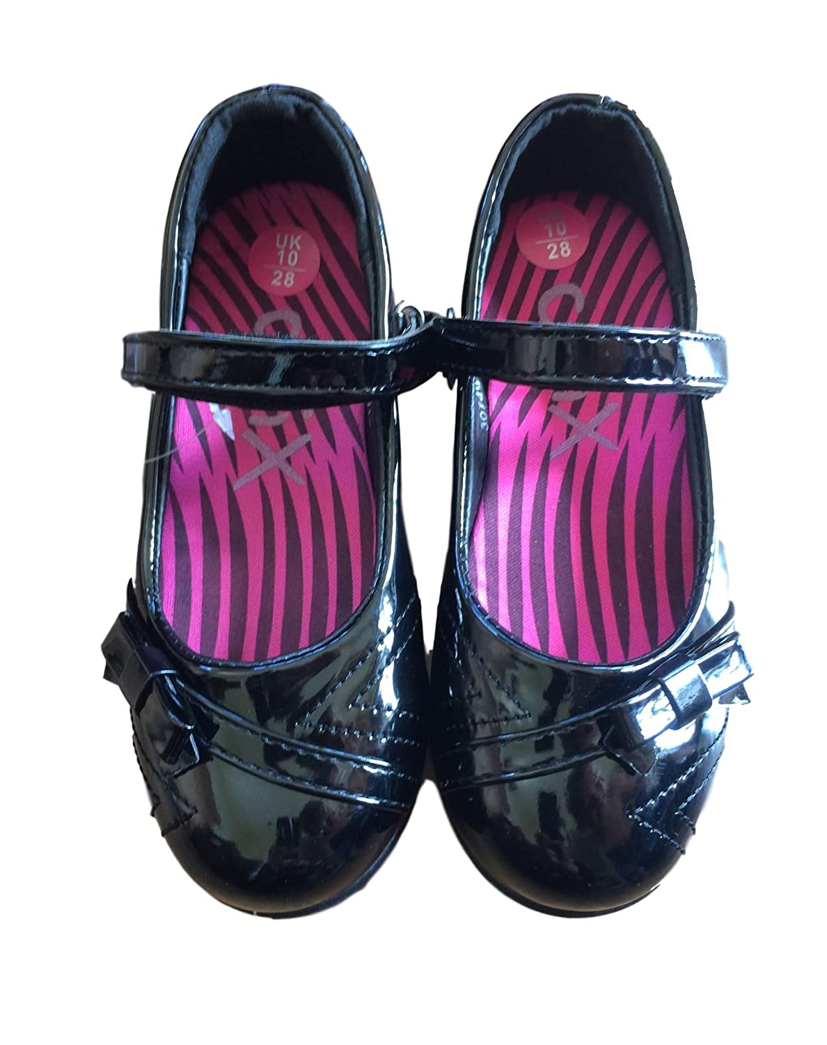 Girls Chix Bow Patent Dolly Shoes (C13/32 EUR): Amazon.co.uk: Shoes & Bags