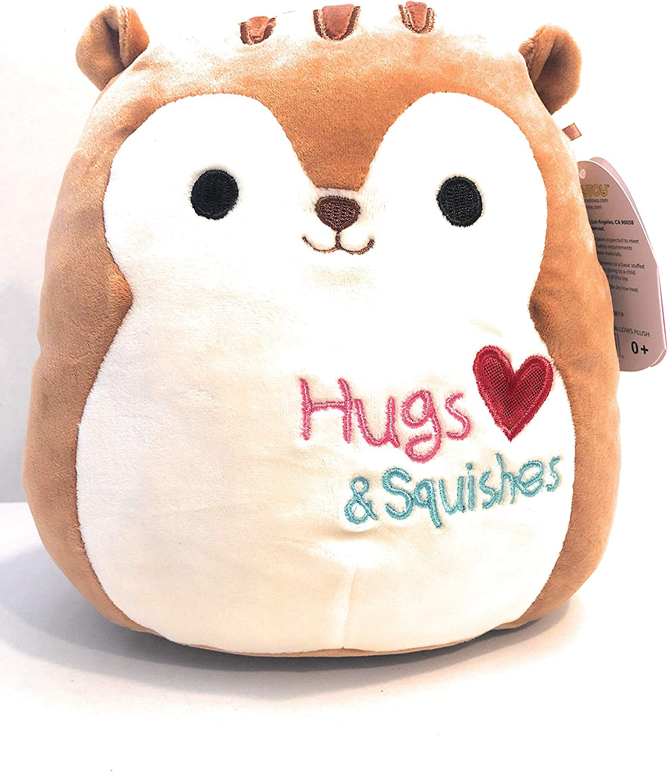 Squishmallow Kellytoy Valentine/'s Squad Nic The Squirrel 8 Inch