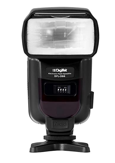 Digitek DFL-066 Electronic Flash Speedlite with in-Built Trigger for Canon, Nikon, Sony, Panasonic Mirrorless DSLR Camera (Black) Mirrorless System Cameras at amazon