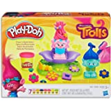 Play-Doh - Dreamworks Trolls - Press 'n Style Salon inc 7 Tubs of Dough & Acc - Creative Kids Toys - Ages 3+