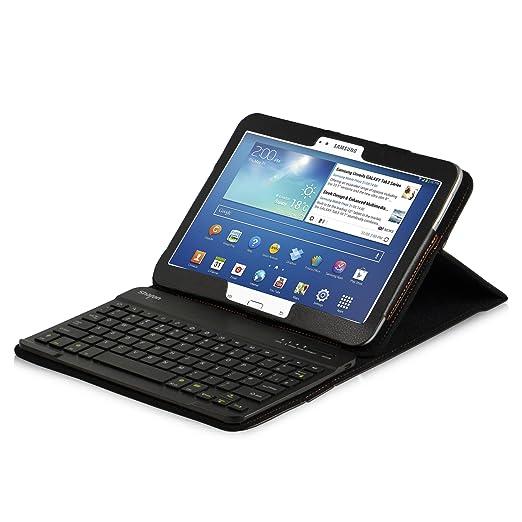 50 opinioni per LEICKE® Sharon- Tastiera custodia protettivo per Galaxy Tab 4 10.1 (T530 / T531