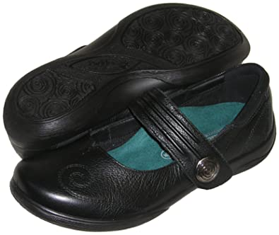 1f470629 PADDERS Women's Poem Mary Jane Adjustable Strap Shoe (Black) Extra Wide  Width (6