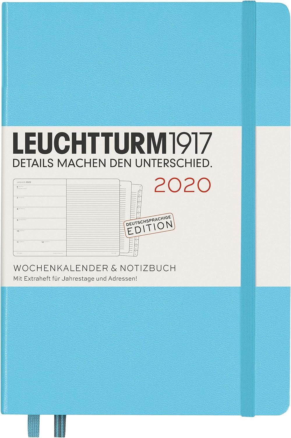 mit Extraheft 2020 LEUCHTTRUM1917 359855 Wochenkalender /& Notizbuch Hardcover Medium Deutsch A5 Ice Blue