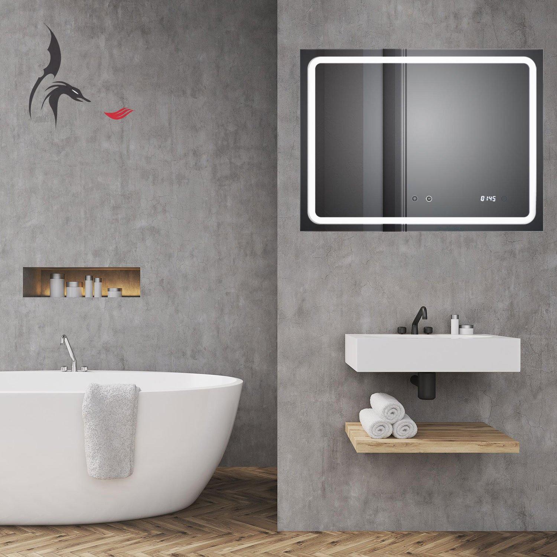 LED Bad Spiegel HOKO/® Badspiegel beleuchtet LED WEEE-Reg. Nr.: DE 40647673 Mainz 50x70cm Energieklasse A+