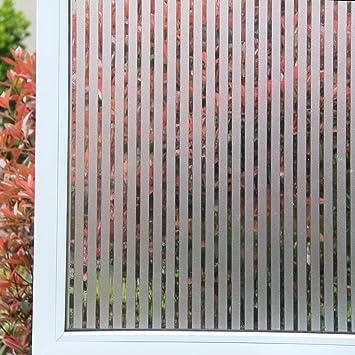 Concus-T Static Cling vinilo premium Frosted rayas de privacidad lámina para ventanas 60x200cm: Amazon.es: Hogar