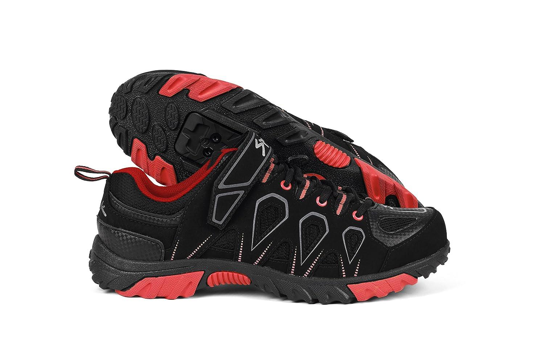 Spiuk Linze MTB - Zapatillas unisex, color negro/rojo, talla 48: Amazon.es:  Zapatos y complementos