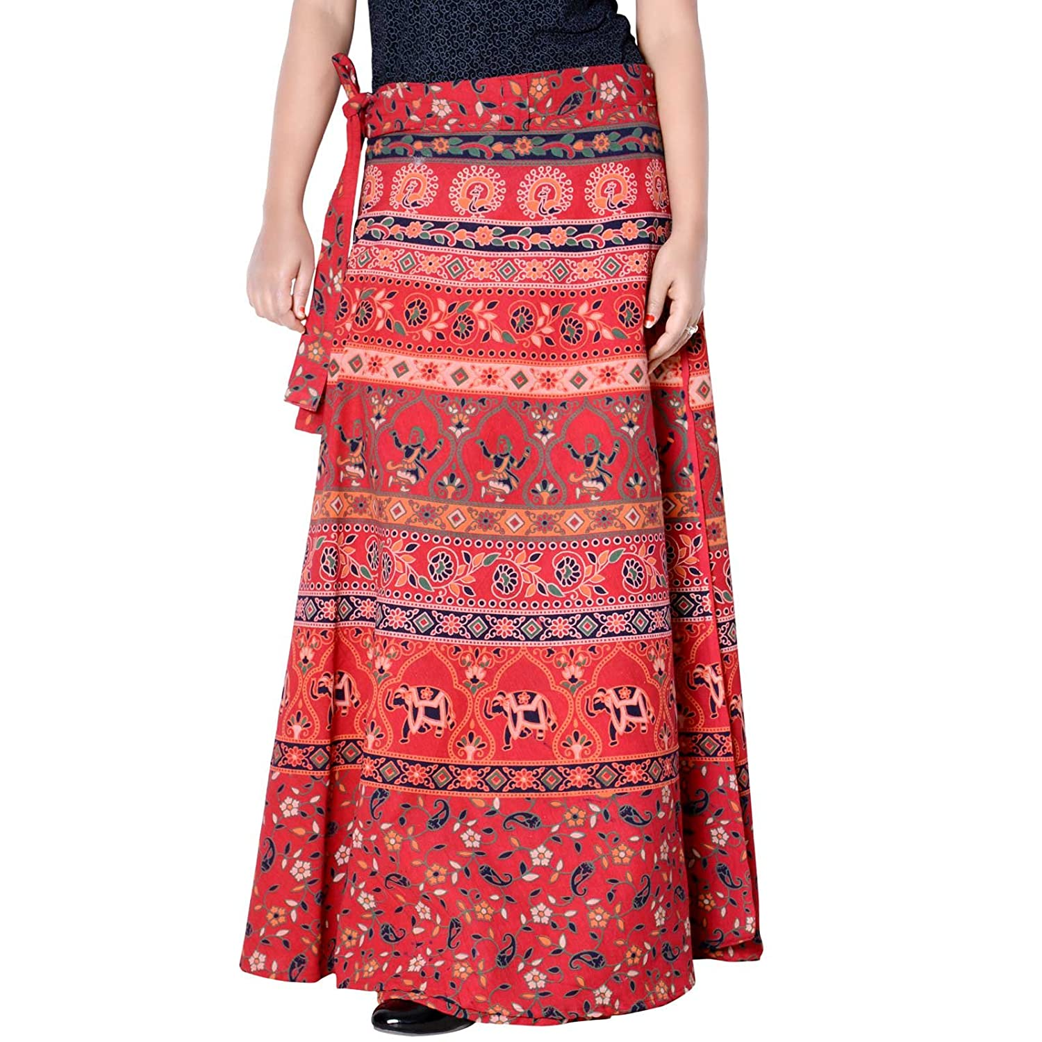 36 Inch Length Length Wrap Around Rajasthani Skirt D3