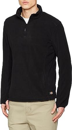 JW7011 Dickies zweifarbiger Fleecepullover schwarz BK XL