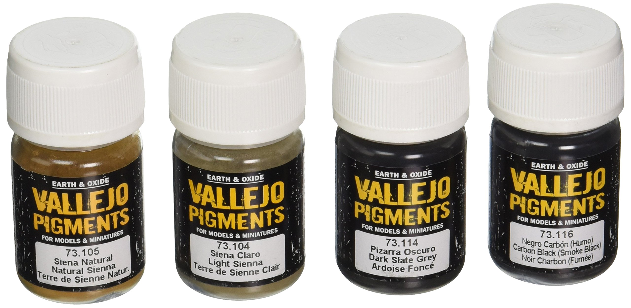 Vallejo Stone and Cement City Pigment Set, 30ml, 4-Pack